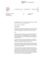Trafikminister Flemming Hansens svar på spørgsmål nr. 283 vedr ...