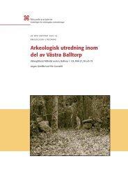 UV Väst Rapport 2003:16 - arkeologiuv.se