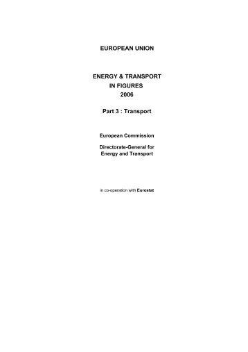 EUROPEAN UNION IN FIGURES Part 3 : Transport ENERGY ...