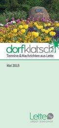 dorfklatsch - Frühjahr/Sommer 2015