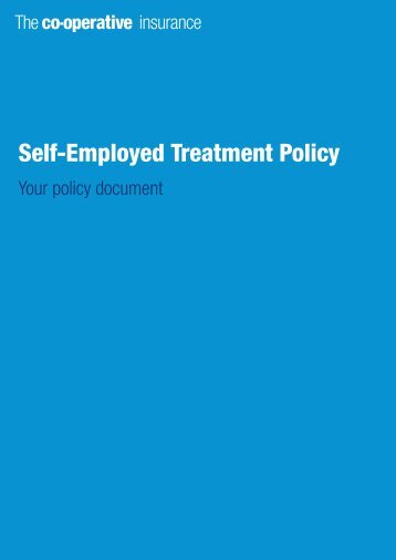 Self-Employed Treatment Policy - The Co-operative Insurance