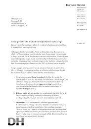 Høringssvar vedr. tilskud til miljøeffektiv teknologi - Danske Havne