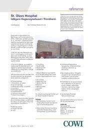 Rammeavtale St. Olavs Hospital - Trondheim (pdf) - Cowi
