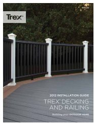 TREX® DECKING AND RAILING
