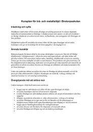 Kursplan för trä- och metallslöjd i Brotorpsskolan - Bagarmossen ...