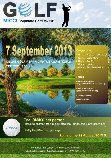 Corporate Golf Day 2013 - Malaysian International Chamber of ...