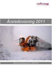 Årsredovisning 2011 - Railcare