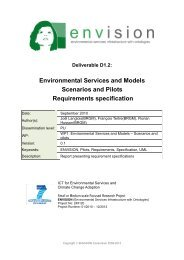Programme and Challenge - ENVISION – ENVIronmental Services ...