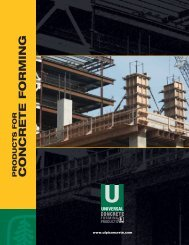 Concrete Forming Products Brochure - ProWood Professional Grade ...