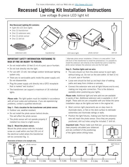 Recessed Lighting Kit Installation Instructions Trilingual
