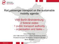 Verkehrsverbund Berlin-Brandenburg - Club Feroviar Conferences