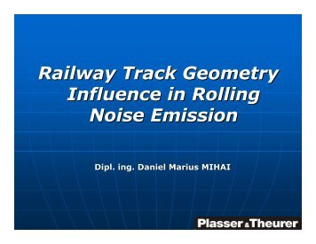 Railway Track Geometry Influence in Rolling Noise Emission