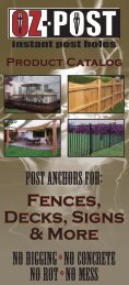 Oz-Post Catalog - Sharon Fence