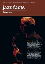 jazz facts - Svensk Musik - Stim