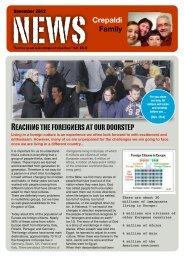 News Letter Crepaldi December 2012 - Life Share Network
