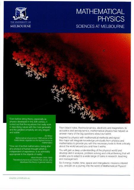 Mathematical Physics flyer.pdf - University of Melbourne