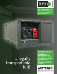 transportable, double wall, containerized on-demand fuel supply ...
