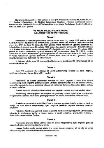 vii-aneks-20110928 - Sindikat Željezničara Hrvatske
