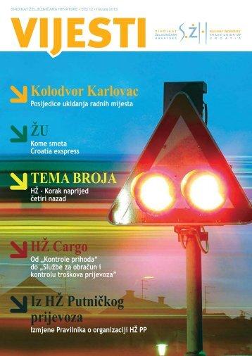 List VIJESTI SŽH broj 12, travanj 2013. (PDF) - Sindikat Željezničara ...