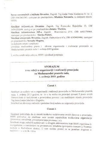 sporazum-sssh-szh-sihz-ssh - Sindikat Željezničara Hrvatske