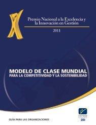 Premio Nacional a la Excelencia y la innovación en gestión