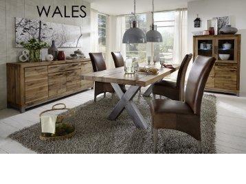 Massive Wildeiche Möbel Wales, Farbton bassano oder natur