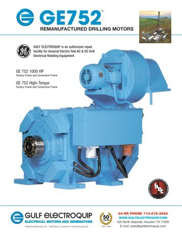 Ward leonard 1500hp ac traction motor gulf electroquip for Dc traction motor pdf