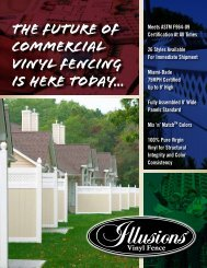 The FUture of COMMERCIAL Vinyl FENCING IS HERE TODAY...