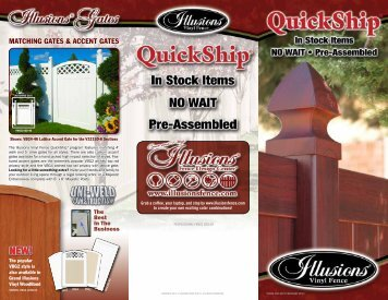 MATCHING GATES & ACCENT GATES - Illusions Vinyl Fence