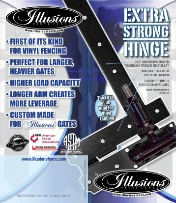 Extra Strong Hinge - Illusions Vinyl Fence