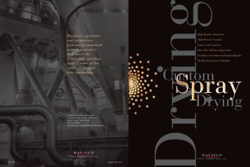 Custom Spray Drying - Davisco Foods International, Inc