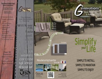 Genovations® Decking Brochure (998 KB) - Genova Products