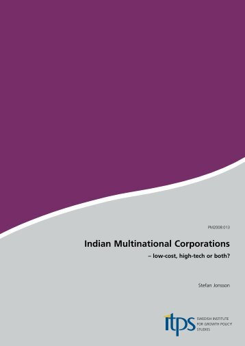 Indian Multinational Corporations