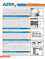 RAILING INSTALLATION GUIDELINES - Azek