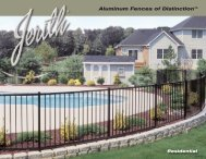 Jerith Residential Brochure - Hoover Fence