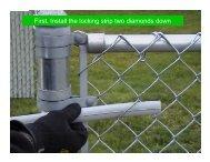 This link illustrates OptionLock slat installation - Hoover Fence