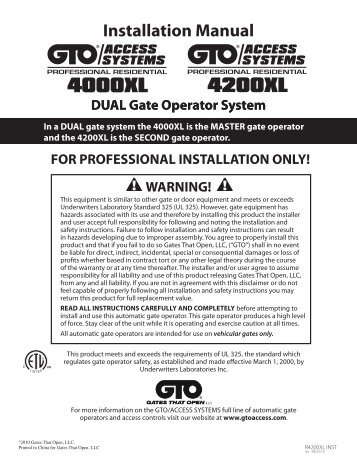 Installing The Photocell. Installation Manual Gtopro. Wiring. Gto 502 Wiring Diagram At Scoala.co