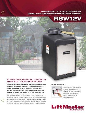 RSW12V Brochure - Hoover Fence