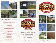 Your Online Fence Resource - Hoover Fence