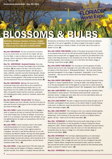 2012 Blossoms and bulbs escorted tour - Great Trains of Europe Tours