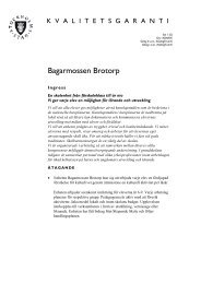 kvalitetsgarantier Bagarmossen brotorp 2010 2011