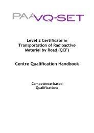 QCF Qual Handbook L2 Cert in T-RAM by Road April 2010 - Ramtuc