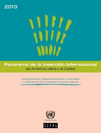Panorama de la Inserción Internacional de América Latina y el Caribe 2013