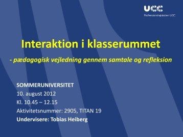 Interaktion i klasserummet - Dansk - mitBUF.dk