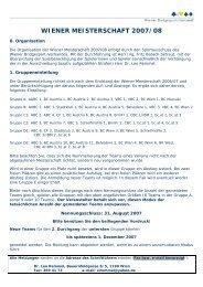 wiener meisterschaft 2007/08 - Wiener Bridgesport-Verband online