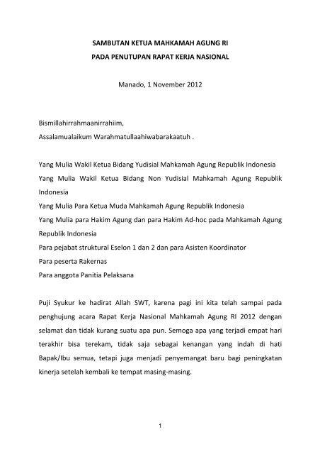 20 Sambutan Penutupan Kma Untuk Rakernas 2012 Pt Bandung