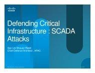 Defending Critical Infrastructure : SCADA Attacks Attacks