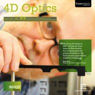 We set up 4D Optics in 2007. Initially we were based ... - Invest Essex