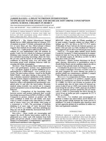 article original / original article - Lebanese Medical Journal