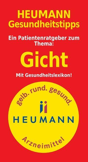 Gesundheitstipps Gicht (PDF, 238kB) - Heumann Pharma GmbH